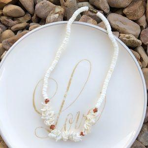 Vintage White Puka Shell Necklace